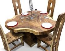 Kualitas meja makan antik kayu trembesi solid tidak kalah dengan jenis kayu lainnya seperti kayu jati