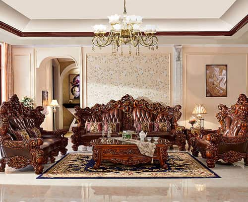 Set Kursi Tamu Mewah Desain Ukiran Ala Raja Raja Furniture