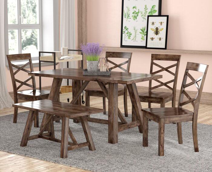 Meja Makan Kayu Minimalis Harga Murah Sederhana Raja Furniture