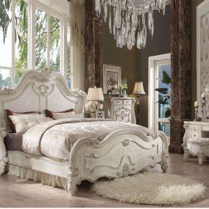 Set Tempat Tidur Duco, tempat tidur mewah, kamar warna putih, tempat tidur warna putih
