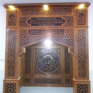 mihrab masjid ukiran jepara, ukiran mihrab masjid, mihrab masjid nabawi, mihrab masjid jati, mihrab masjid kaligrafi