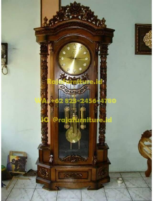 Jual Lemari Jam Jati Mewah Murah Raja Furniture