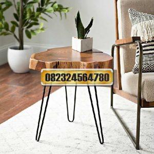 meja samping kepala kayu, meja samping retro, meja samping minimalis