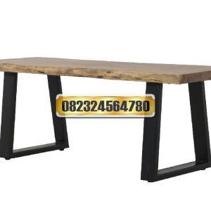 meja makan kaki besi, model meja makan kaki besi, harga meja makan kaki besi