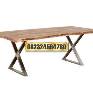 meja kaki stainless, meja solid kaki stainless, meja makan minimalis murah berkualitas