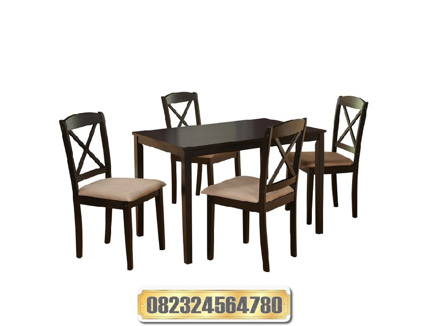 Meja Makan Minimalis Modern Kayu Raja Furniture