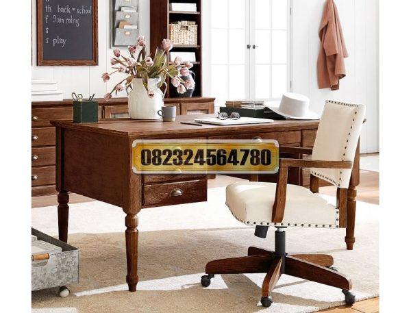 Meja Kantor Elegan, Set Meja Kantor 1 Biro, Set Meja Kerja Kantor