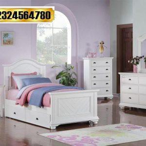 1 Set Tempat Tidur Anak Duco Putih