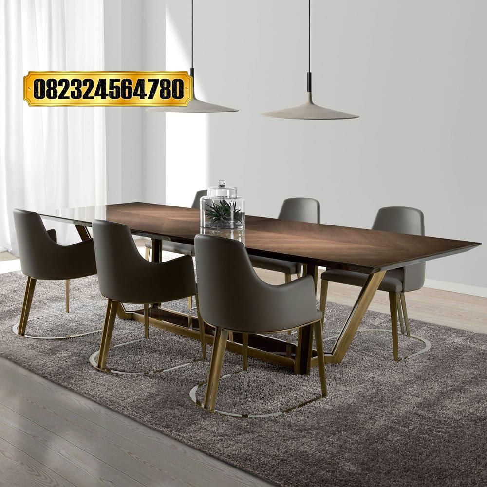 Set Meja Makan 6 Kursi Minimalis Modern Terbaru Raja Furniture
