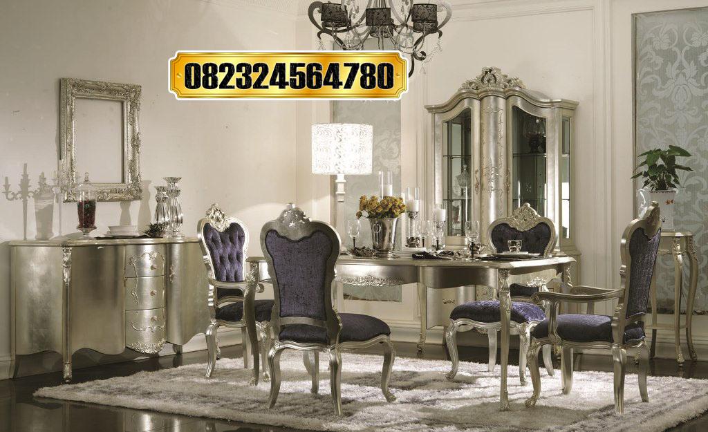 Set Meja Makan Klasik Mewah Bahan Berkualitas Raja Furniture