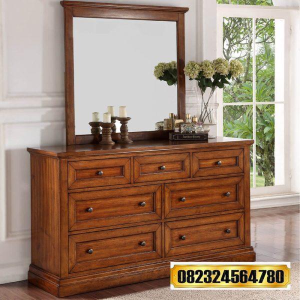 Dresser Mirror Natural Jati